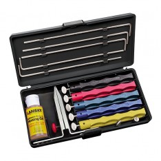 Набор для заточки ножей Lansky Deluxe Sharpening System, LKCLX + Налобный фонарь в подарок!