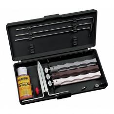 Набор для заточки ножей Lansky Natural Arkansas System, LKNAT + Налобный фонарь в подарок!